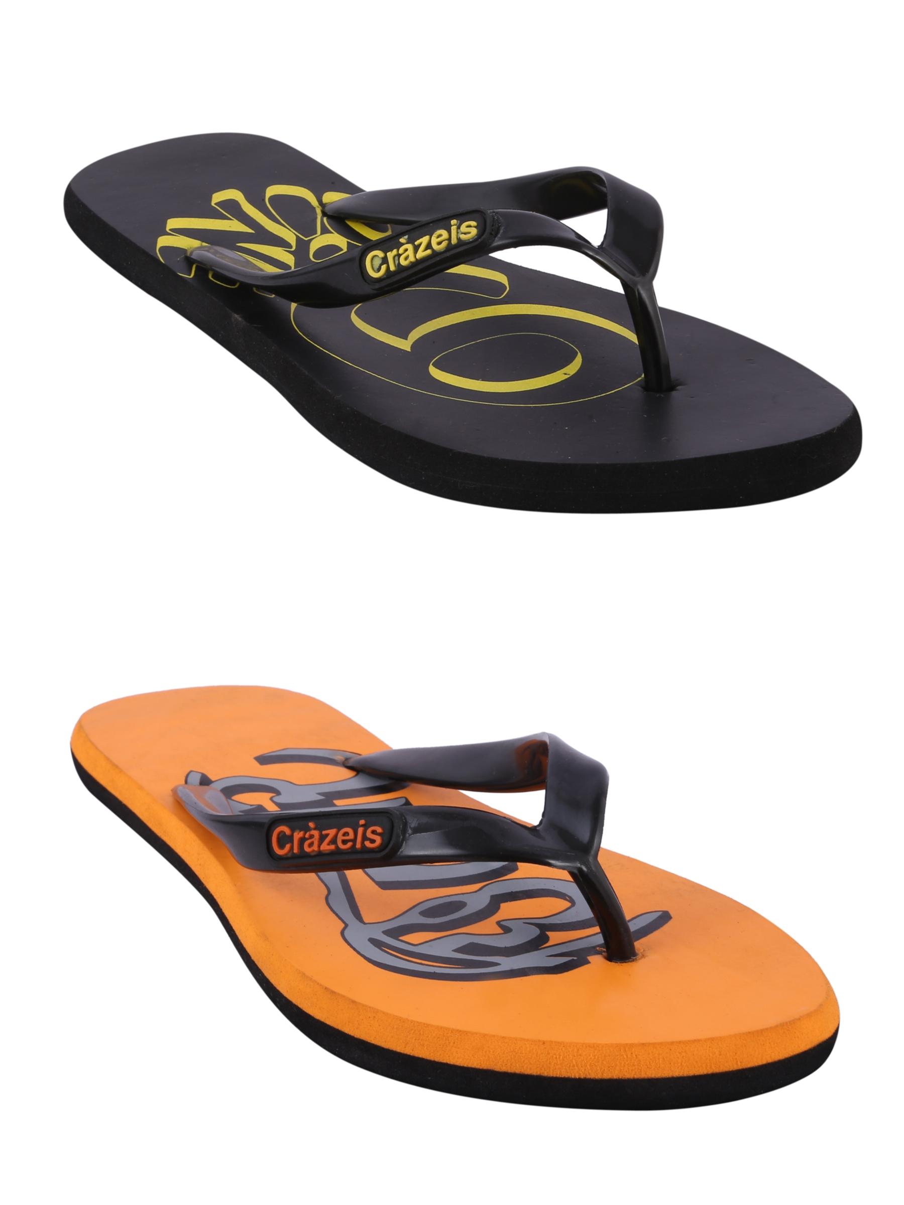 crazeis2 Crazeis Flip-flops Pack Of 2 For Men-001