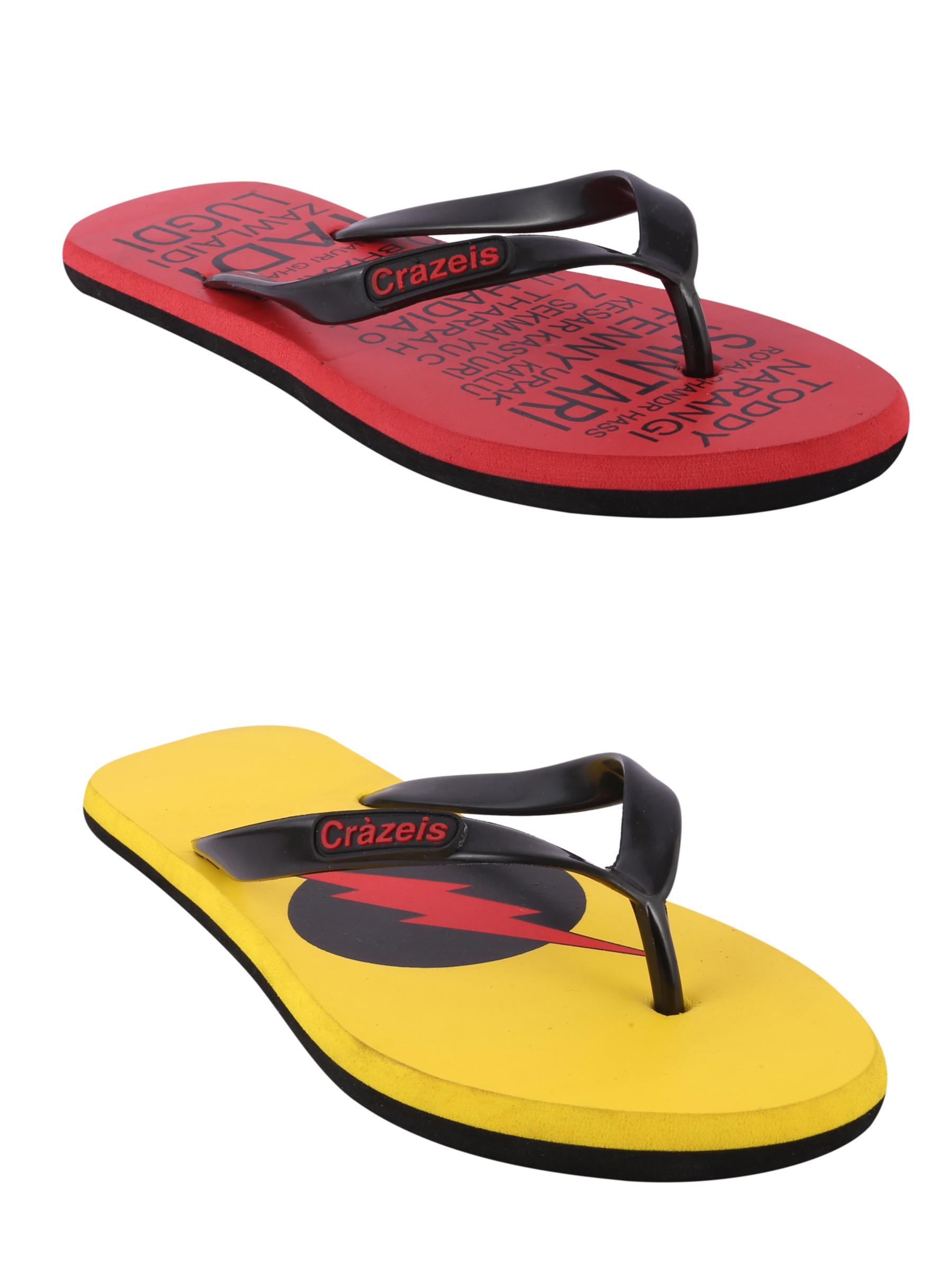 crazeis2 Crazeis Flip-flops Pack Of 2 For Men-029