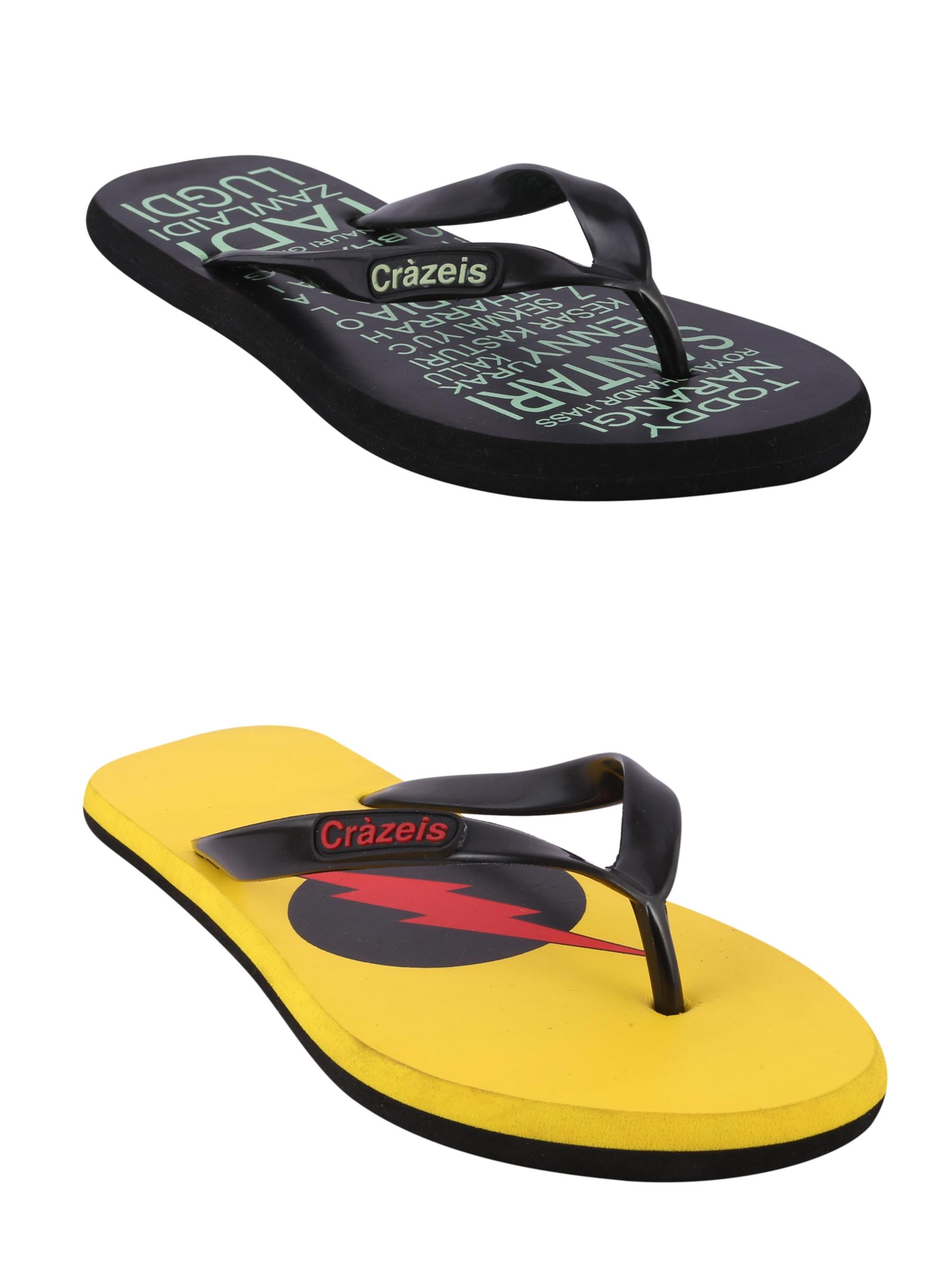 crazeis2 Crazeis Flip-flops Pack Of 2 For Men-027