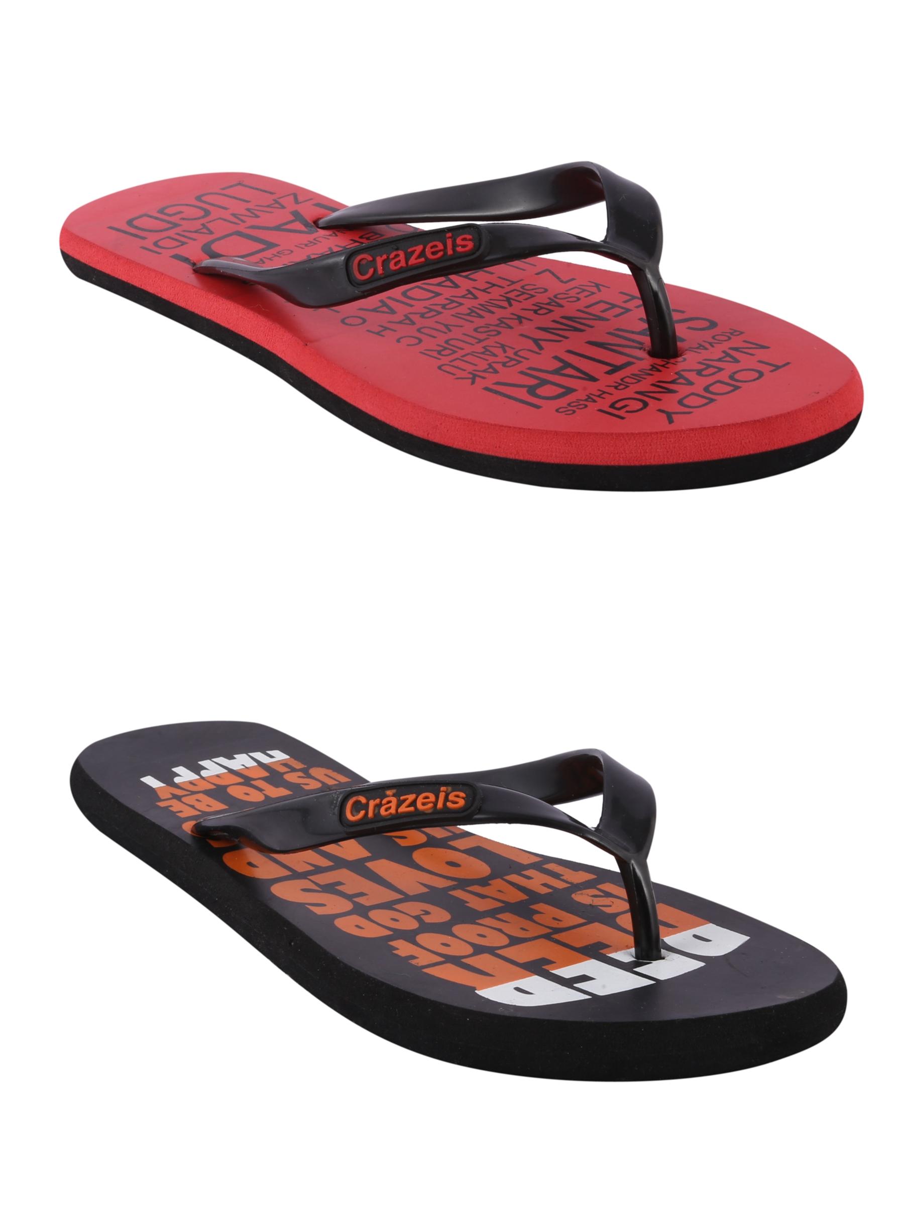 crazeis2 Crazeis Flip-flops Pack Of 2 For Men-025
