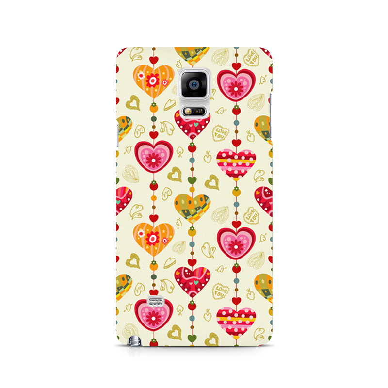 thereminiscence1 Samsung Galaxy Note 4 Mobile Back Cover Hearts