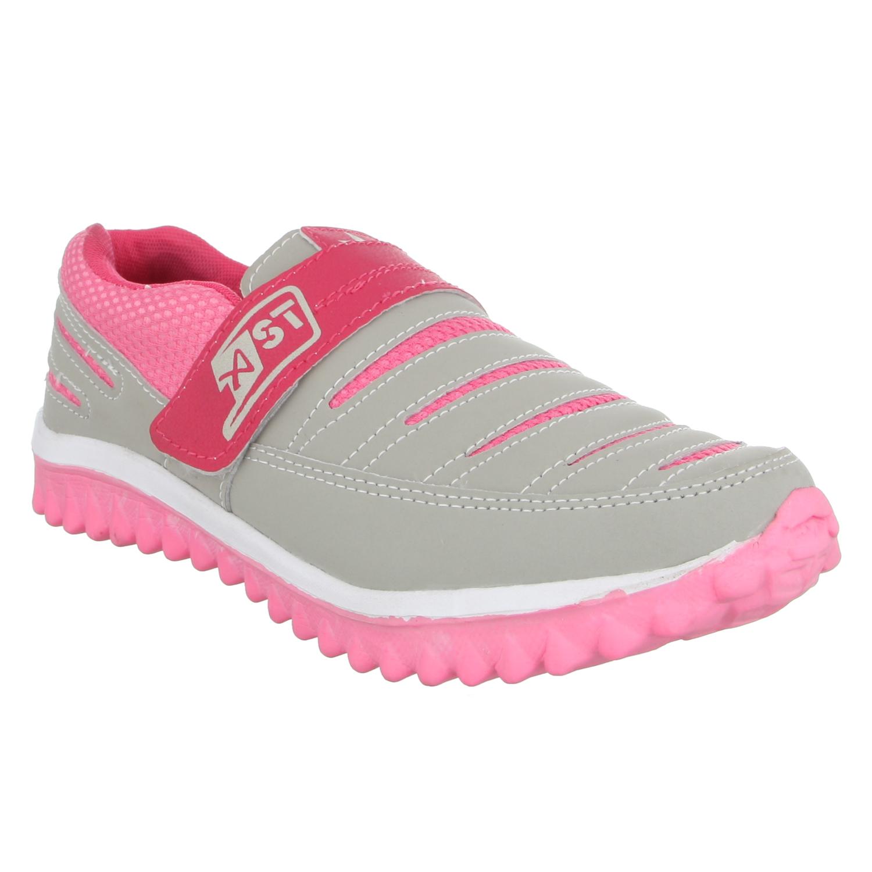 delhibazzar2 A Star Women Grey Pink Running Shoes