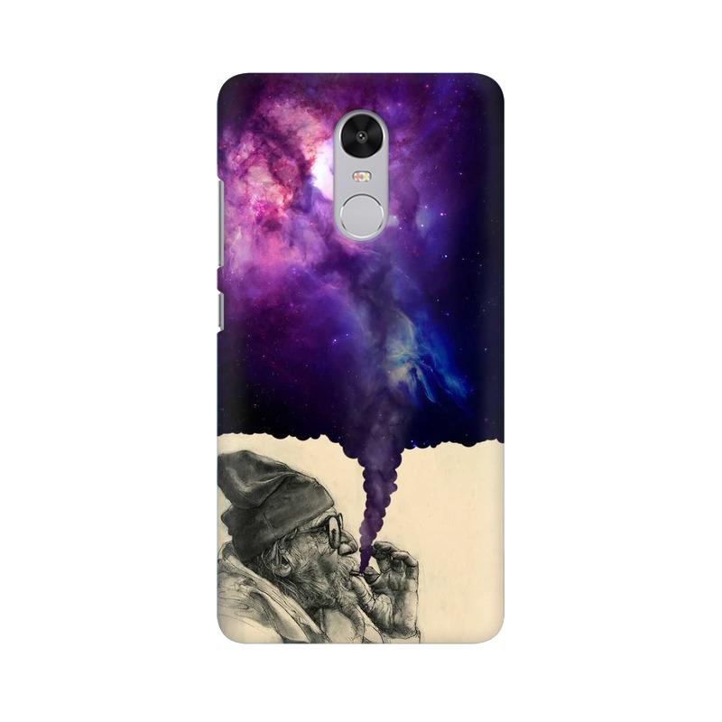 mobidrone Old Man Smokes Universe - Mobile Case For Xiaomi Redmi Note 4