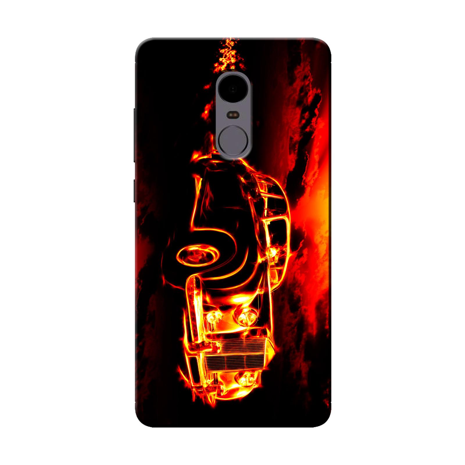 sairafashions Wild Thunder Mi Redmi Note 4 Mobile Back Cover Case And Designer Printed Hard Flexible Mobile Case Cover  - 1136