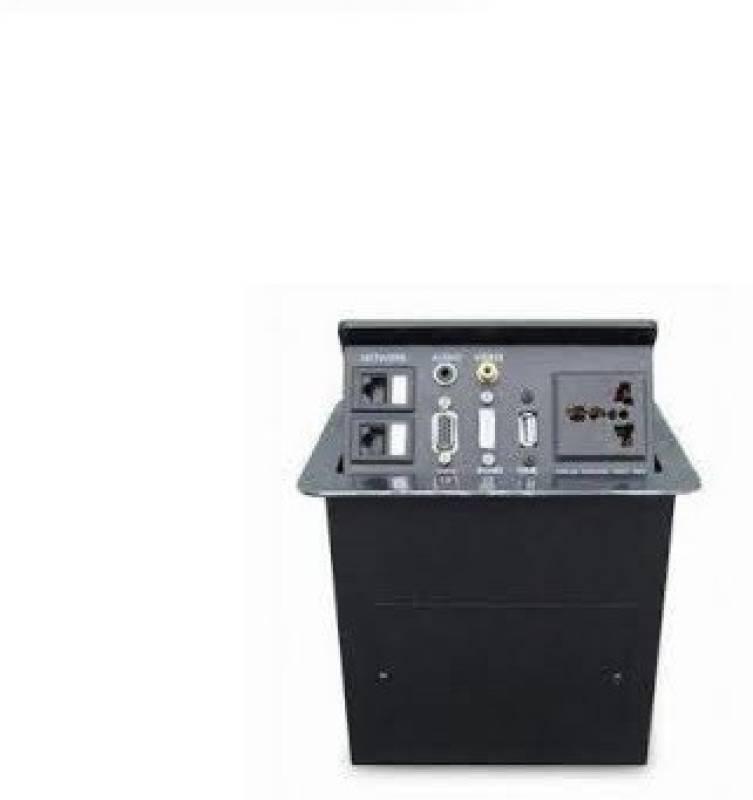 Tech Gear Desktop/tabletop Socket With Two Network, 3.5 Audio, Vga, Video MP3 Player(Orange , 1.5 Display)