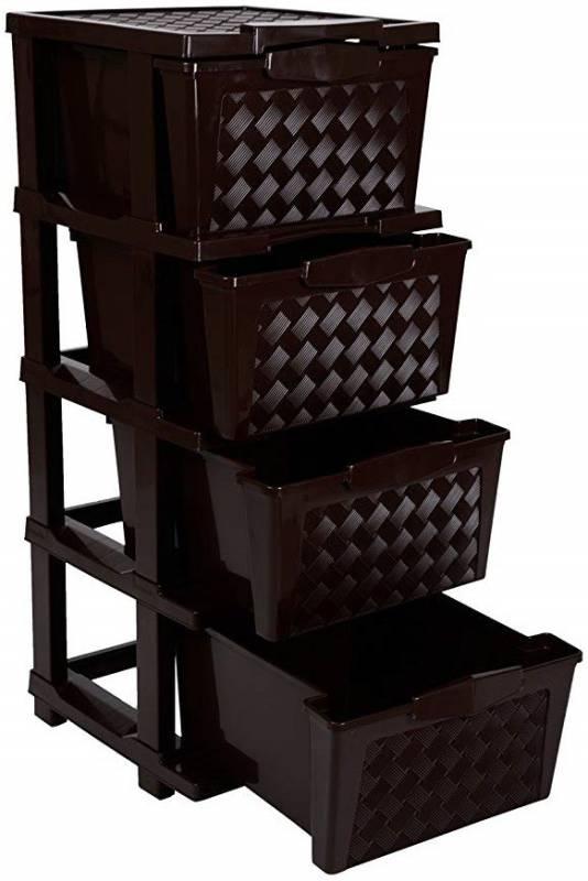 Joyful Plastic Free Standing Cabinet(Finish Color - Chocolate, DIY(Do-It-Yourself))