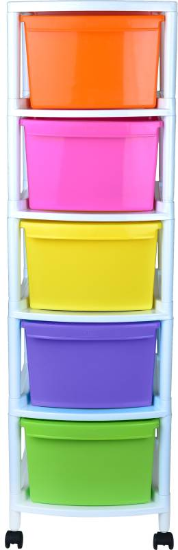 Liza Plastic Free Standing Chest of Drawers(Finish Color - Multicolour, DIY(Do-It-Yourself))