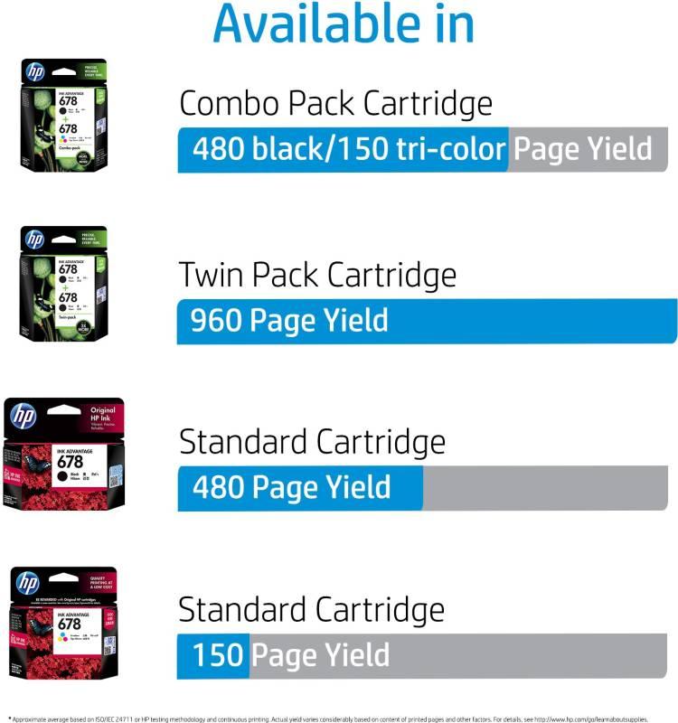 HP 678 Tri-color Ink Cartridge