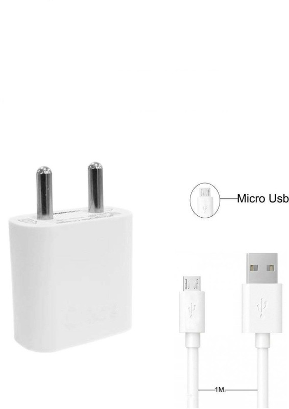 Fellkon Charger_2Awh1 1 A Mobile Charger with Detachable Cable(White)