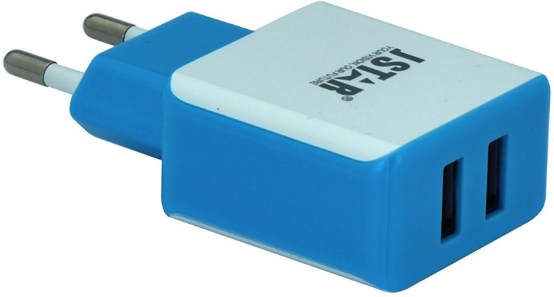 J-Star Quality Wall Charger with 2.1A Dual USB Port. 5 W 1 A Multiport Mobile Charger(Blue)