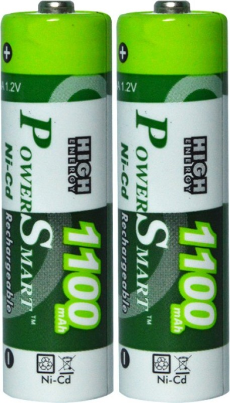 Power Smart AA 1.2V PS1100 NiMH x2 cells 1100 mah rechargeble Cells for camera toys remote etc  Battery