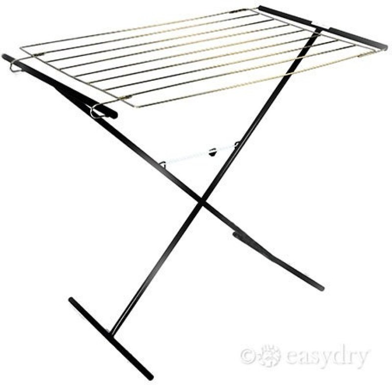 Easy Dry Systems Stainless Steel Floor Cloth Dryer Stand(Black, Pack of 1)