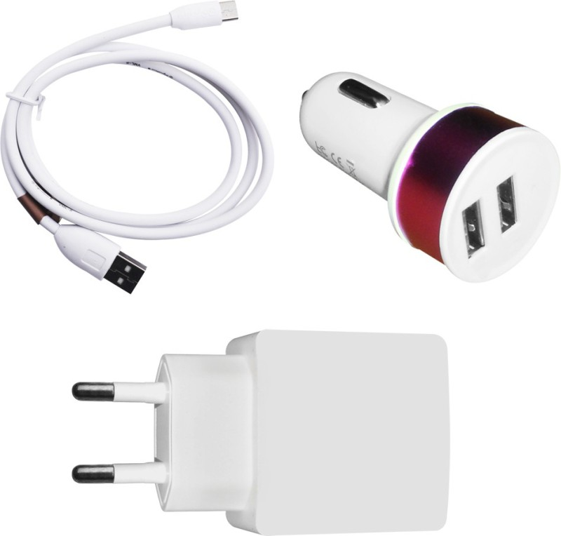 DAKRON Wall Charger Accessory Combo for Redmi Note 4G(White)