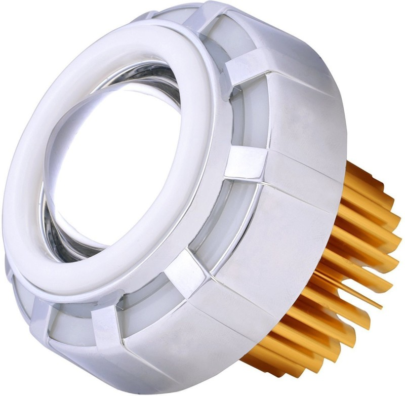 AutoSun Projector Lamp Led headlight ( High beam, Low Beam, Flasher function) - For All Bikes (Red & White) Projector Lens