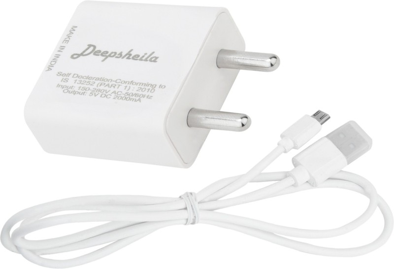 DEEPSHEILA FAST CHARGER & SYNC/ data cable for SM_SG NTE 5 W 2 A Mobile Charger with Detachable Cable(White)