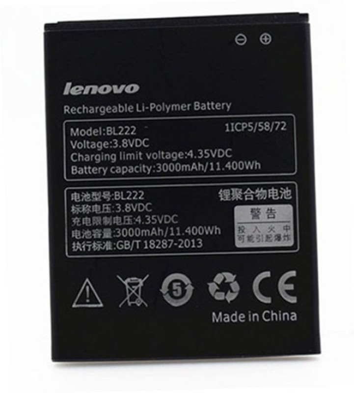 Lenovo Mobile Battery For  LENOVO Lenovo S660 S668T 3.8V 3000mAh BL222 Battery