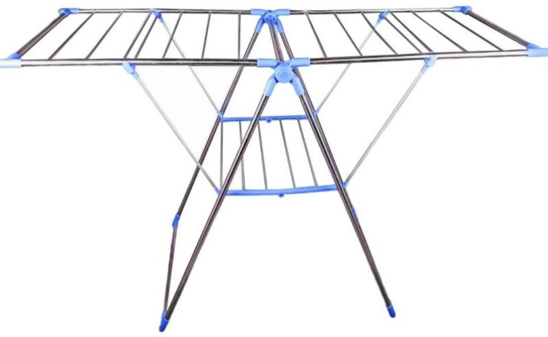 Saigan JERRY Steel Floor Cloth Dryer Stand(White, Blue)