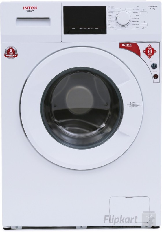 Intex 6 kg Fully Automatic Front Load with In-built Heater White(WMFF60BD)