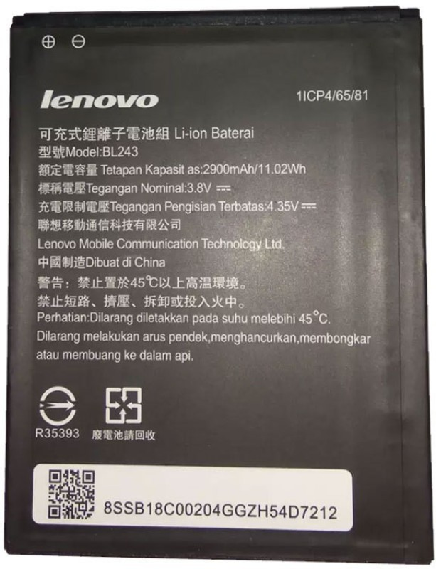 Lenovo Mobile Battery For  LENOVO Lenovo BL243 3000mAh Battery for Lenovo k3 A7000 note K50 -BL-243