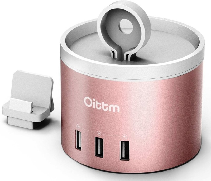 OITTM C53 RG Multi USB Charging Station 25 W 1 A Multiport Mobile Charger with Detachable Cable(ROSE GOLD)