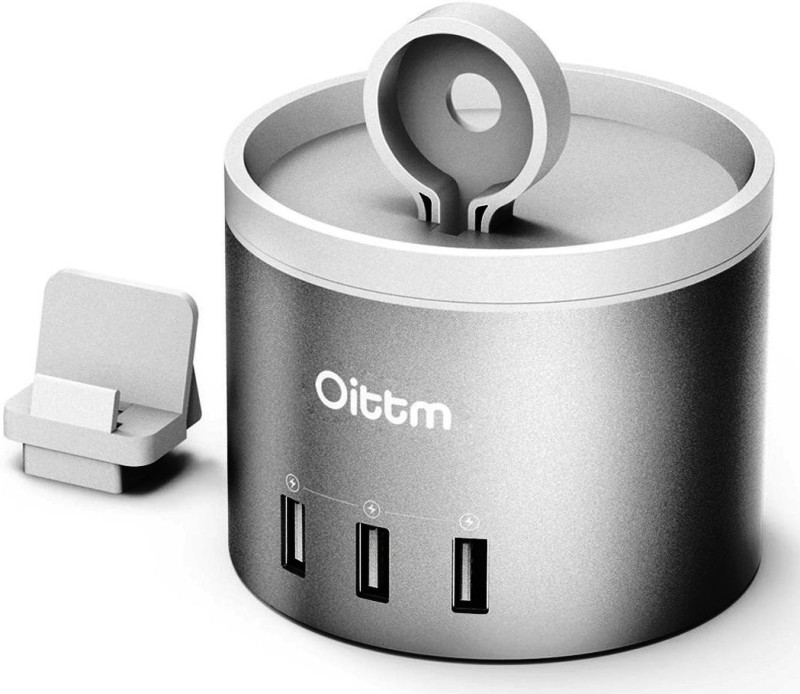 OITTM C53 Silver 35 W 1 A Multiport Mobile Charger with Detachable Cable(Silver)