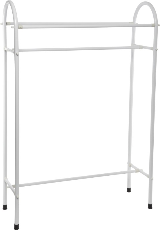 Pull 'n' Dry Pull 'n' Dry Used Clothes Stand 4 ft Steel Floor Cloth Dryer Stand(White)