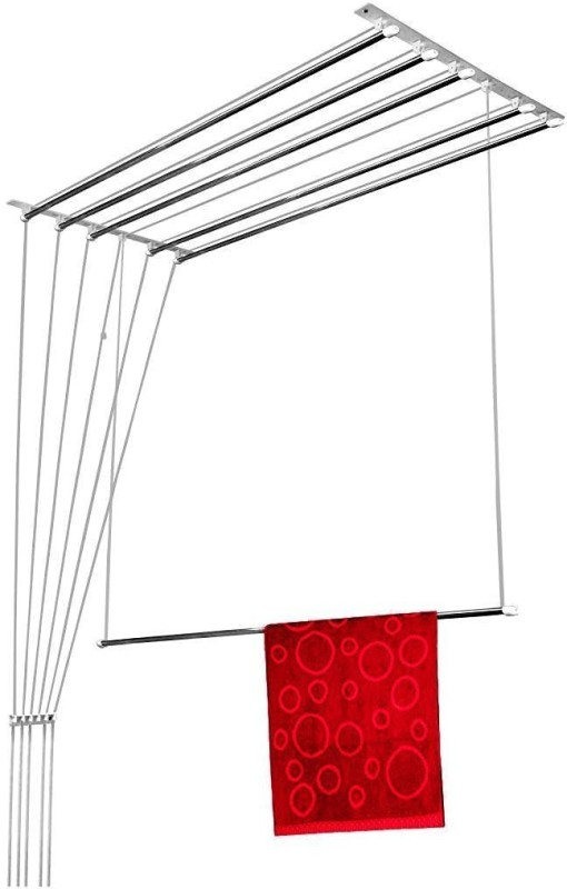 WUDORE 6 Pipes X 3 Feet Steel Ceiling Cloth Dryer Stand(Steel)