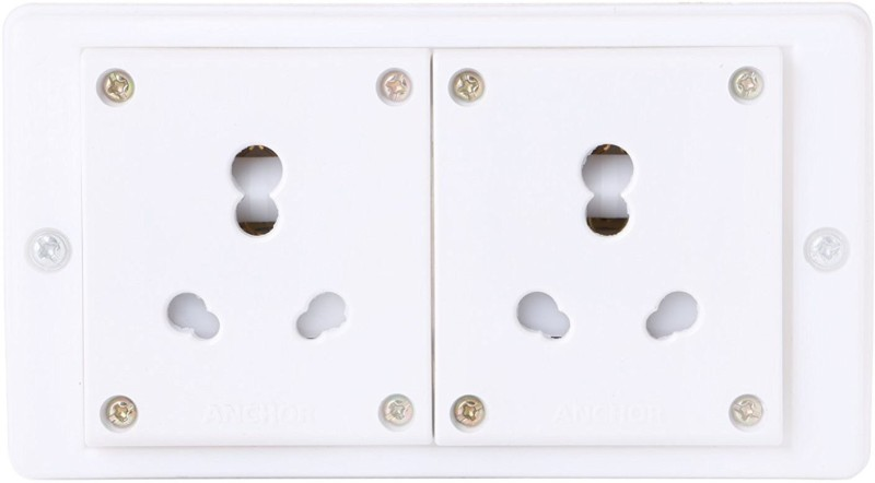 Bahul Amp Plug 2  Socket Extension Boards(White)
