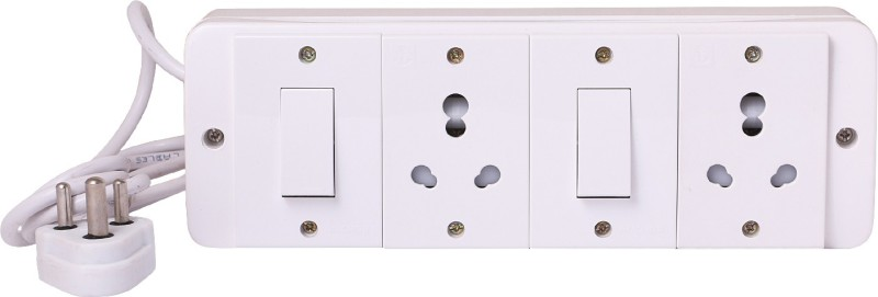 Bahul Power strip extension multi outlet board 2  Socket Extension Boards(White)