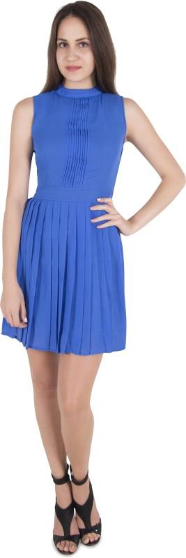 CATTLEYA Women Fit and Flare Blue Dress