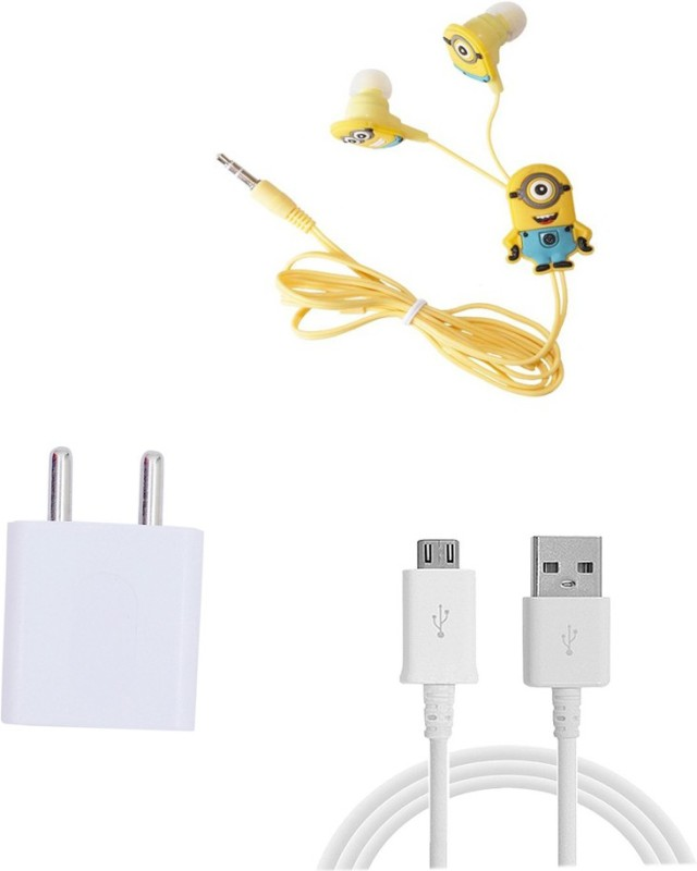 Trost Wall Charger Accessory Combo for Redmi Note 4(White)