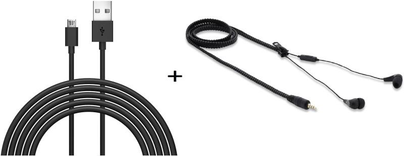 CASVO Cable Accessory Combo for Xiaomi Redmi Note 4G(Black)