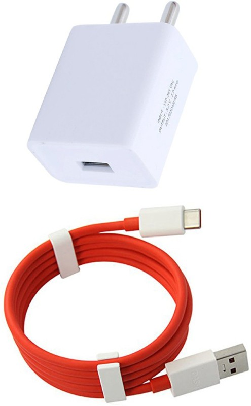 Trost Wall Charger 2.1A With Dash Cable For Glxy S8 Plus 1 A Mobile Charger with Detachable Cable(Red, White)