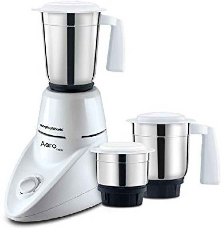 Morphy Richards 3 Jars MORPHY MIXI (AERO) 500 W Mixer Grinder(White, 2 Jars)