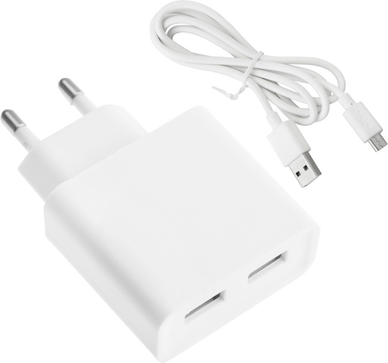 ESN 999 Galaxy 9082 1 A Multiport Mobile Charger with Detachable Cable(White)
