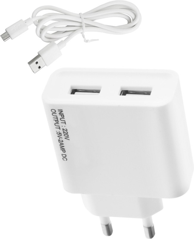 ESN 999 asn alx 5 2 A Multiport Mobile Charger with Detachable Cable(White)