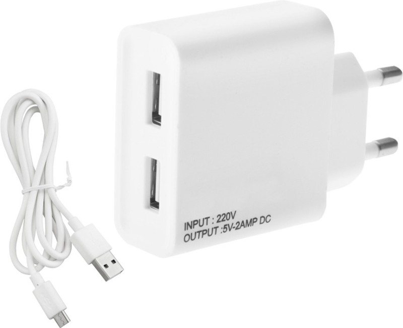 ESN 999 V_vo Y55L 2 A Multiport Mobile Charger with Detachable Cable(White)