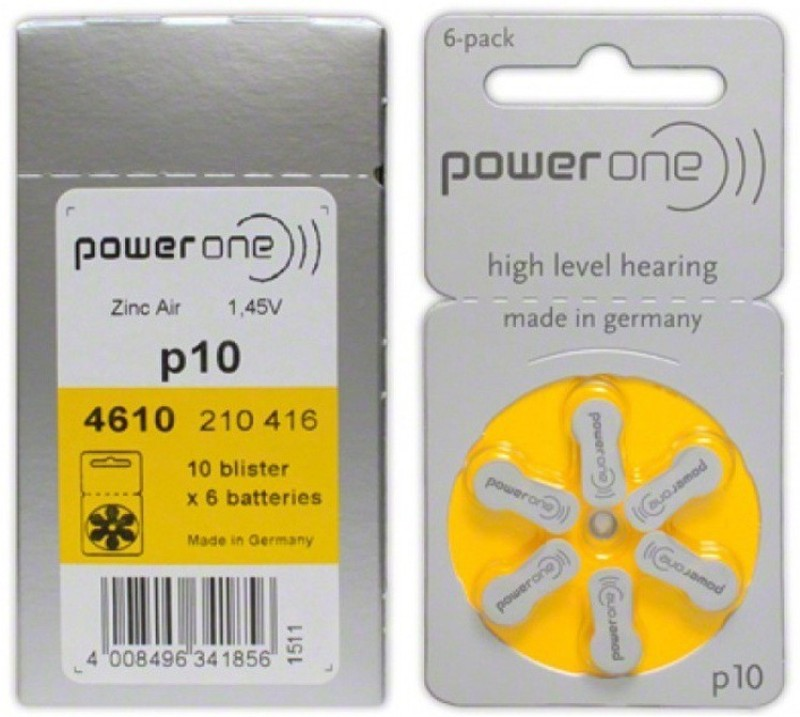 Power One Mobile Battery For  Behind the Ear Behind the Ear
