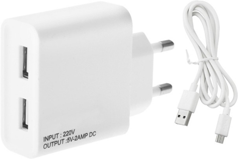 ESN 999 5 2 A Multiport Mobile Charger with Detachable Cable(White)
