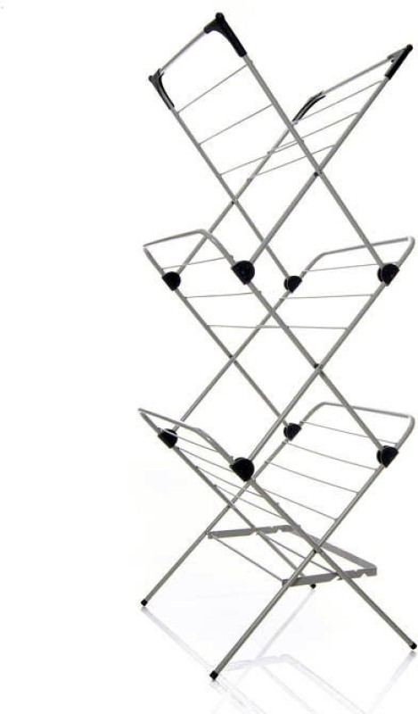 TidyHomz Carbon Steel Floor Cloth Dryer Stand(White)