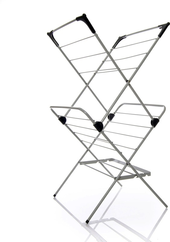 TidyHomz THLAD 40021 Carbon Steel Floor Cloth Dryer Stand(Grey)