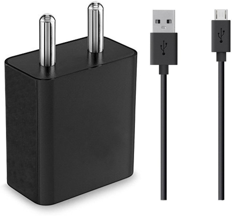 ShopMagics Battery charger for all android mobile. 2 A Mobile Charger with Detachable Cable(Black)