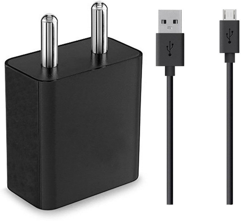 ShopReals Eluga I2 2 A Mobile Charger with Detachable Cable(Black)