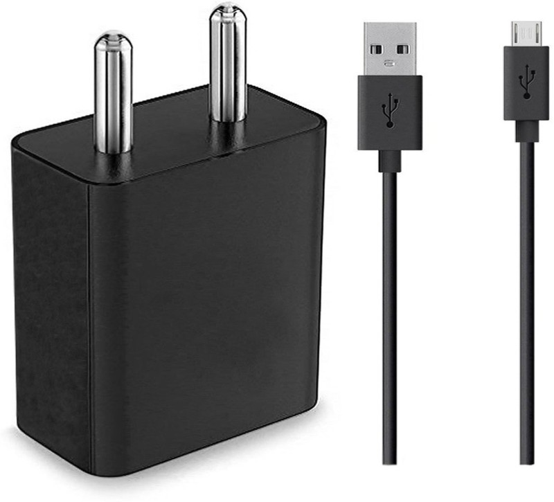 ShopReals Abcx1235 2 A Mobile Charger with Detachable Cable(Black)