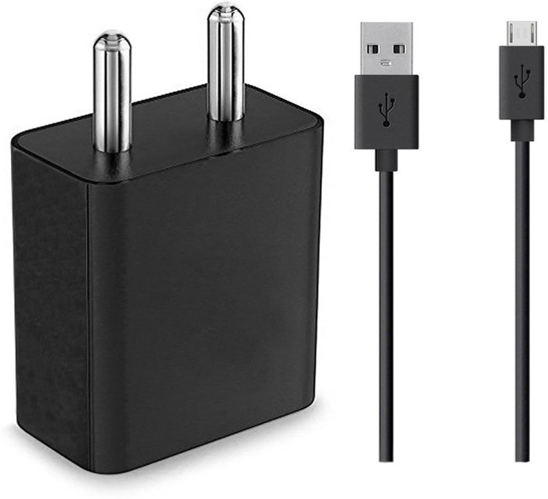 ShopReals A55 2 A Mobile Charger with Detachable Cable(Black)