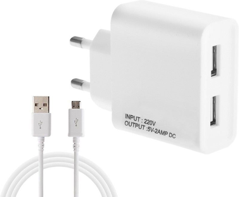 ESN 999 o 7 2 A Multiport Mobile Charger with Detachable Cable(White)