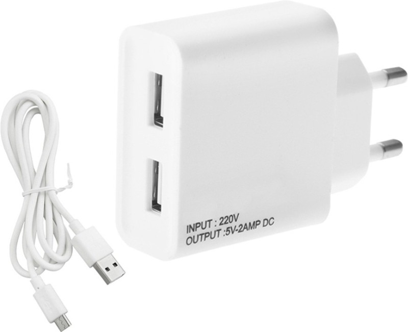 ESN 999 Len_vo S720 2 A Multiport Mobile Charger with Detachable Cable(White)