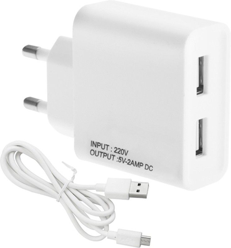 ESN 999 M_trola E3 Powr 2 A Multiport Mobile Charger with Detachable Cable(White)