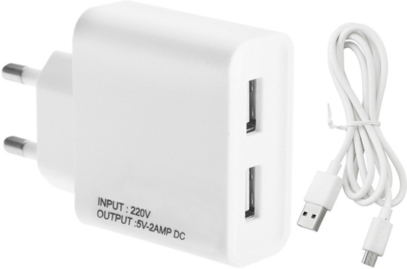 ESN 999 M_oto E 2nd Gen. 2 A Multiport Mobile Charger with Detachable Cable(White, Cable Included)