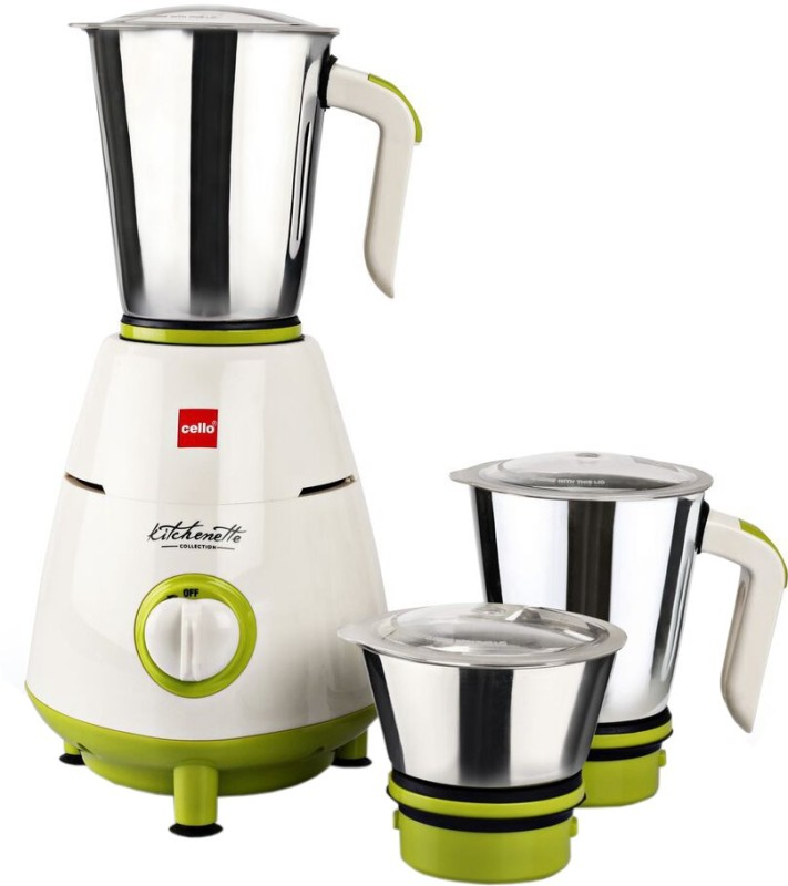 Cello Grind N Mix 800 500 W Mixer Grinder(Green, White, 3 Jars)